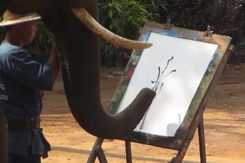 elephant-paiting