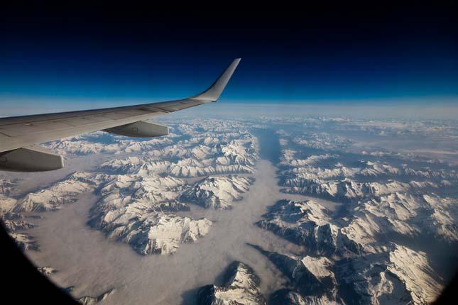 over the ridges