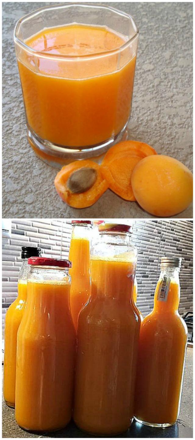 Homemade apricot nectar