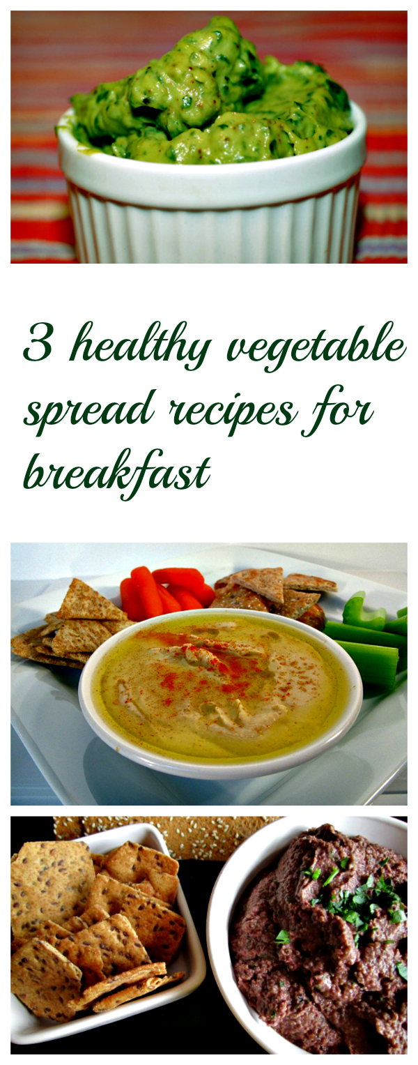 3 filling and healthy vegetable spread recipes for breakfast
