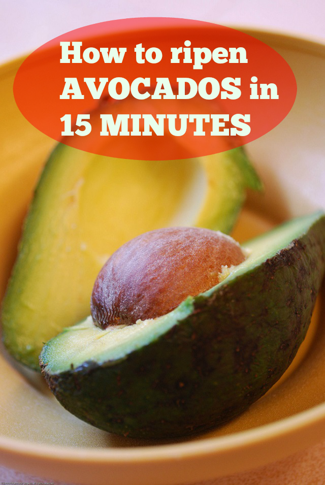 How to ripen avocadoes in 15 minutes