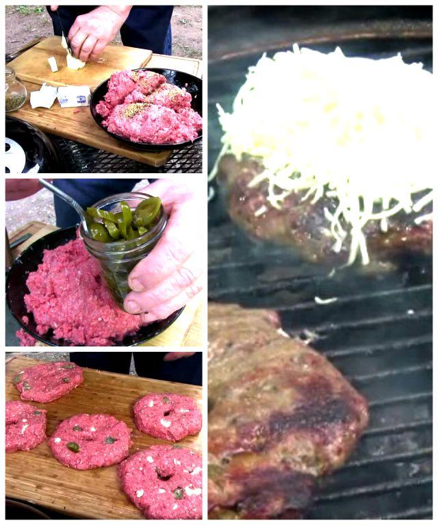 Garlic and marinated pepper hamburger recipe