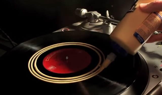 Spread some liquid glue onto your old LP's - here's why