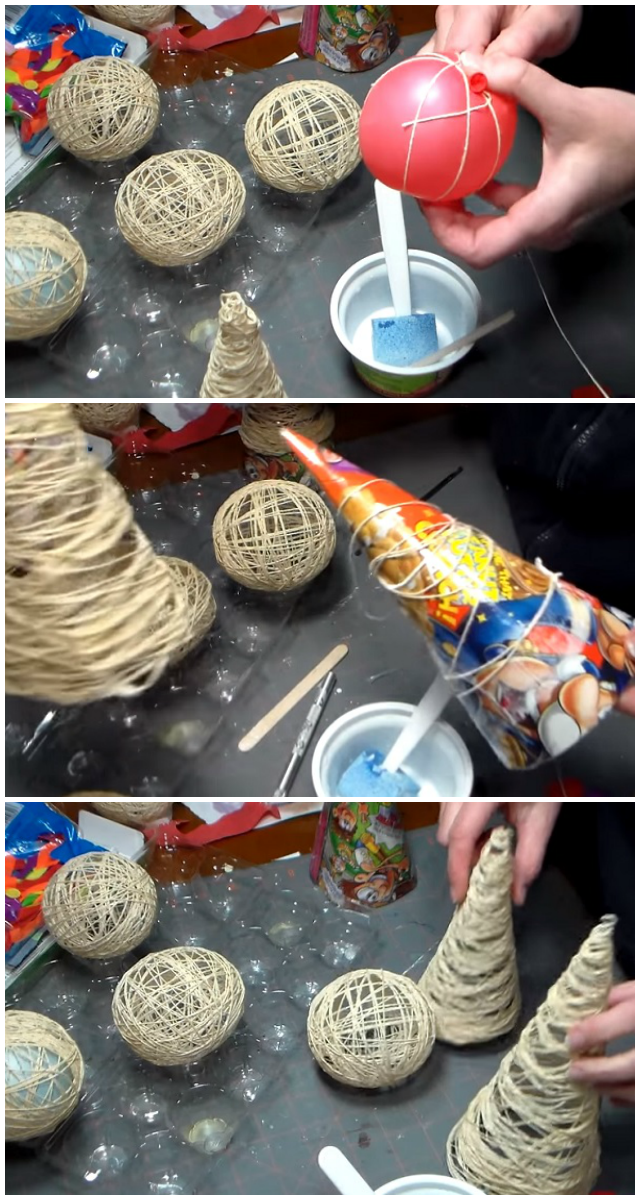 DIY Idea: How to make some lovely Christmas ornaments out of yarn