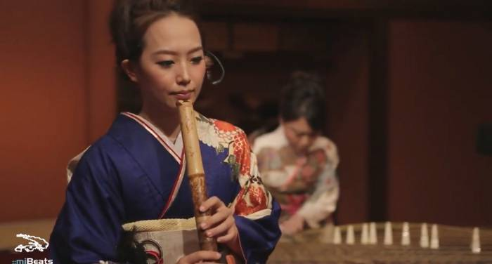 They interpret a popular song using traditional instruments. The result is absolutely remarkable!