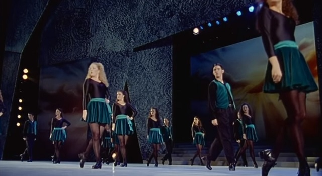 Twenty Irish dancers line up on the scene; when the music starts, you will remain speechless