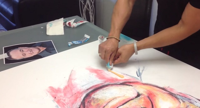 Looking for new forms of art? This artist creates masterpieces using toothpaste!