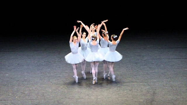 It looks like a normal ballet performance, though this performance is anything but usual