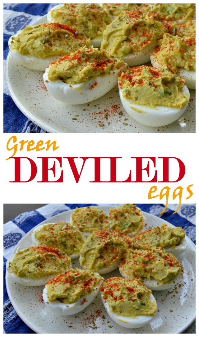 Green deviled eggs recipe
