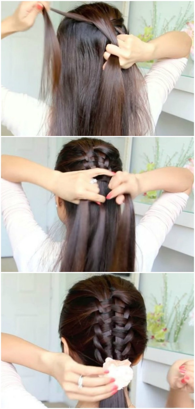 How to change your looks in several minutes with a unique zipper braid