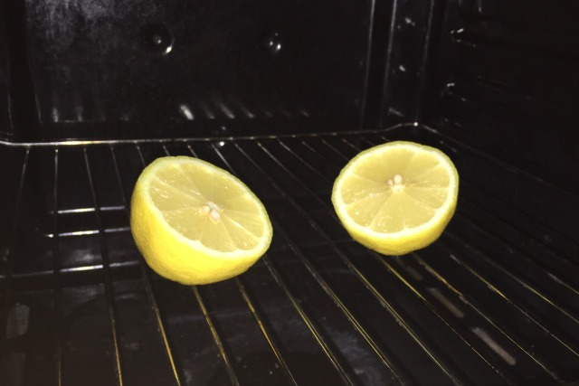 Place a lemon in your oven for a pleasant surprise in the morning