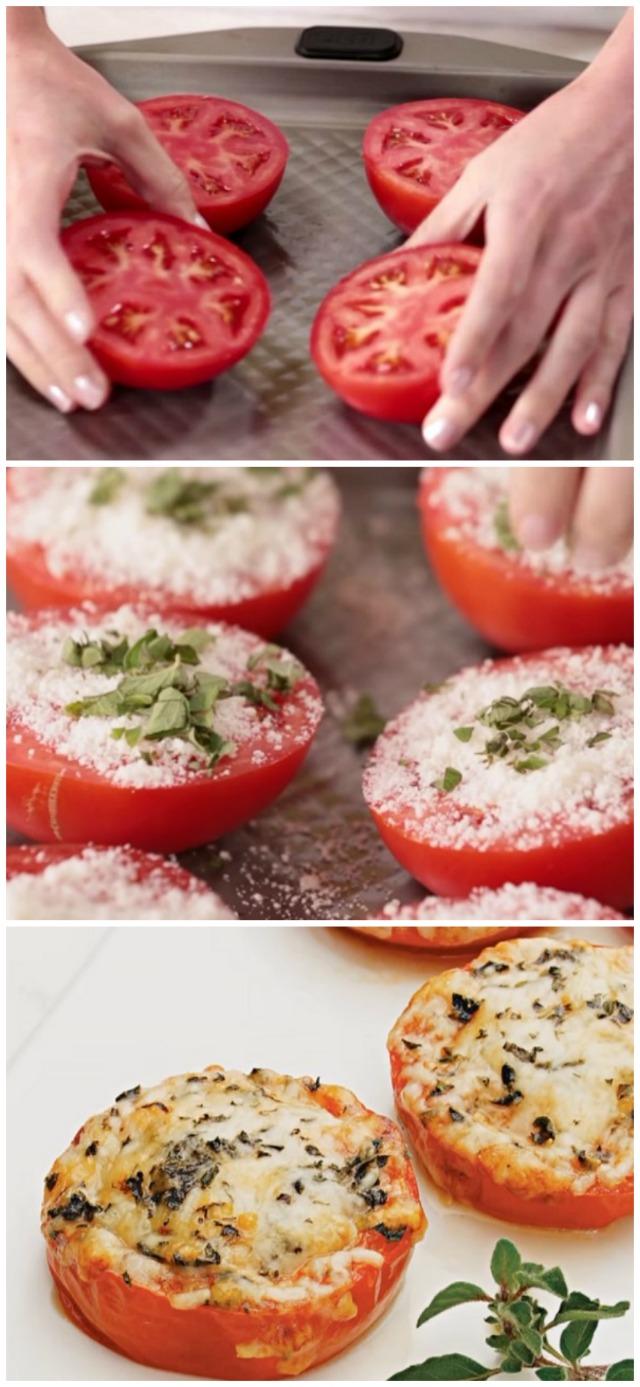 Baked Parmesan tomatoes