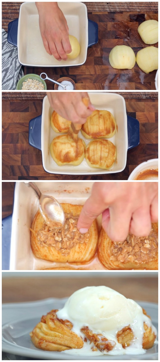 Caramel-cinnamon baked apple recipe