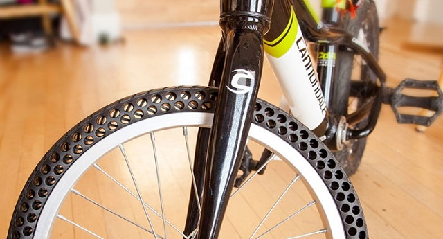 Are you fed up with flat bicycle tires? Here's the first tire that doesn't need to be inflated