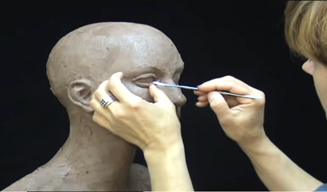 She starts with a lump of clay. What she creates is absolutely impressive