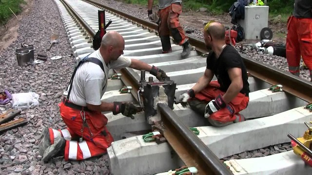 Have you ever wondered how rail tracks are assembled? Take a look at the video!