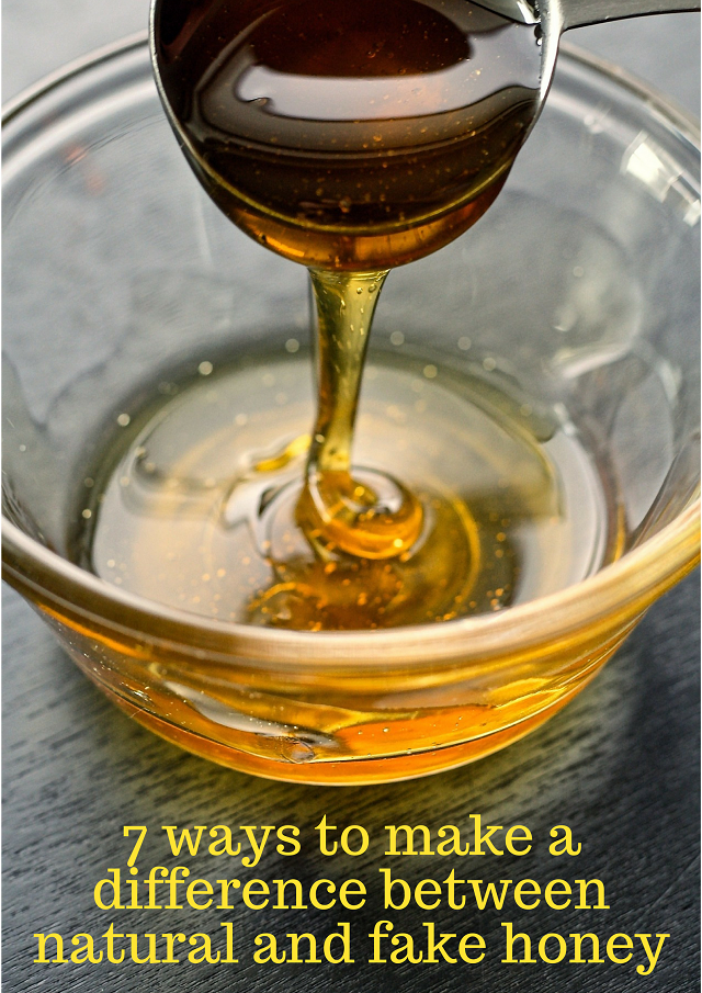 7 ways to make a difference between natural and fake honey