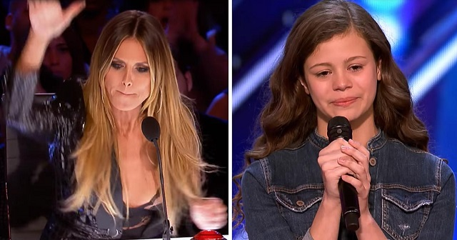 When this shy contestant stops singing, Heidi Klum's gesture amazes everyone!