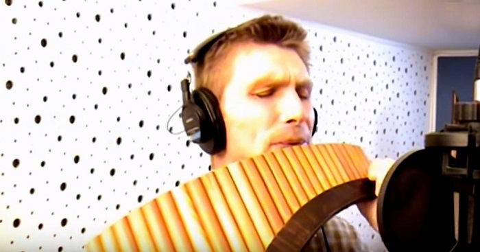 "He plays ""You Raise Me Up"" on the pan flute. A unique and breathtaking interpretation"