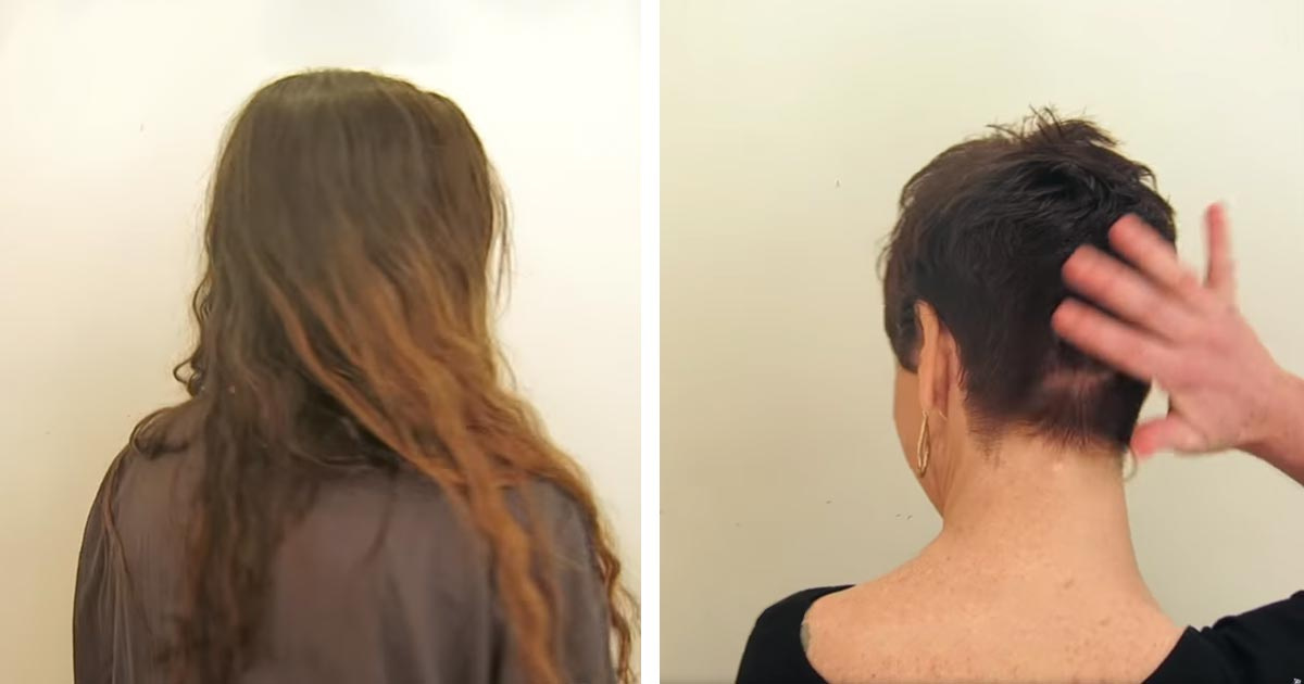 For 30 years, she has been wearing the same hairstyle. A visit to the stylist and the result leaves her speechless