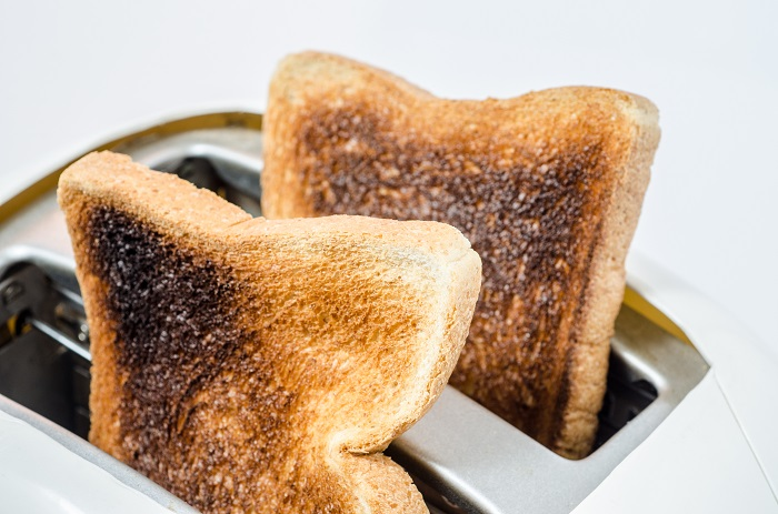 A clever way to use the toaster