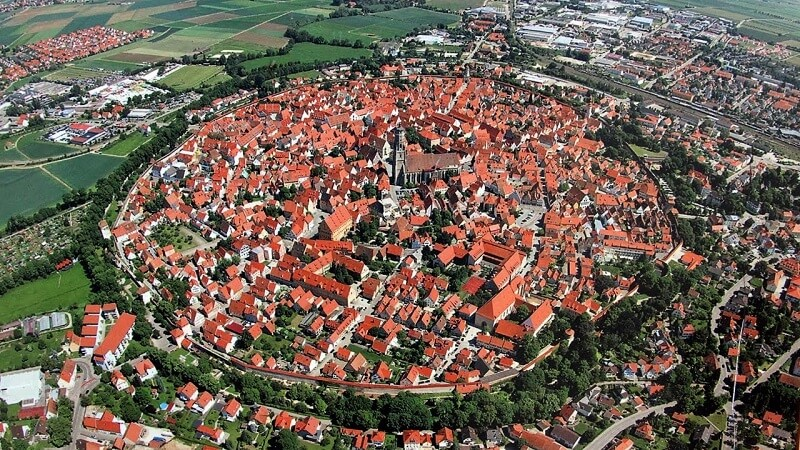 This amazing German town lies in the crater of an asteroid that hit the Earth 15 million years ago